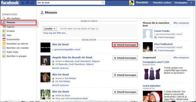 facebook zoeken vrienden