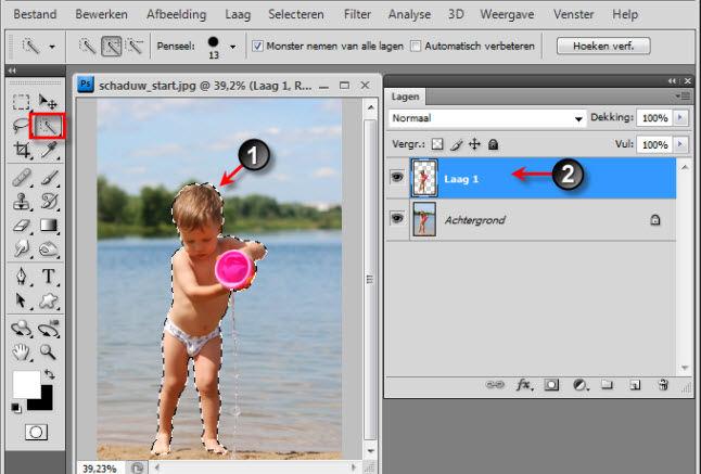 Swotster photoshop tips - Schaduw maken ...