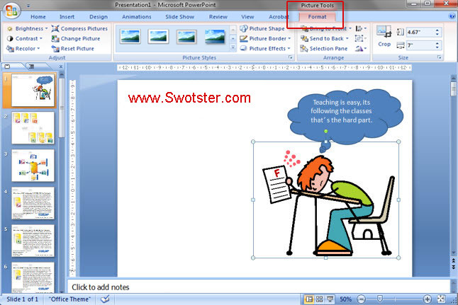 """Swotster Powerpoint 2007 - """"Clip - 75.0KB"""