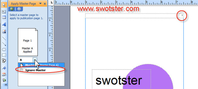 how to create a master page in publisher 2007