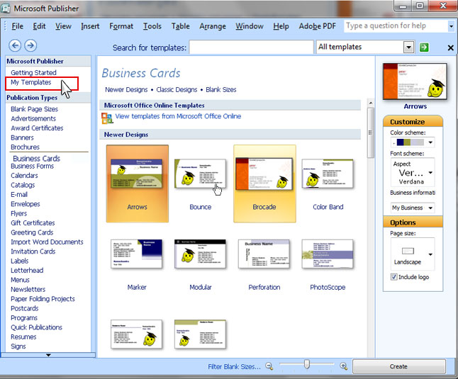 Swotster publisher 2007 templates for Microsoft publisher catalog templates